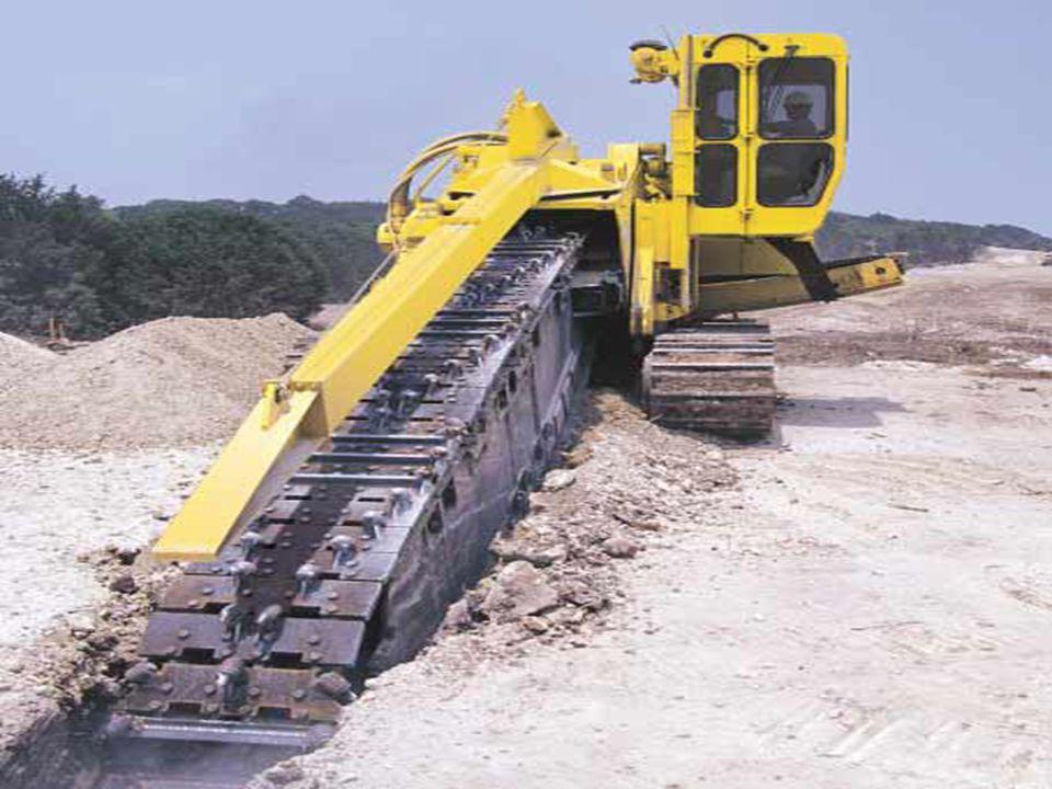 Zanjadoras de Cintas Plegables Este tipo de zanjadoras permiten una máxima flexibilidad en el depósito de tierras.