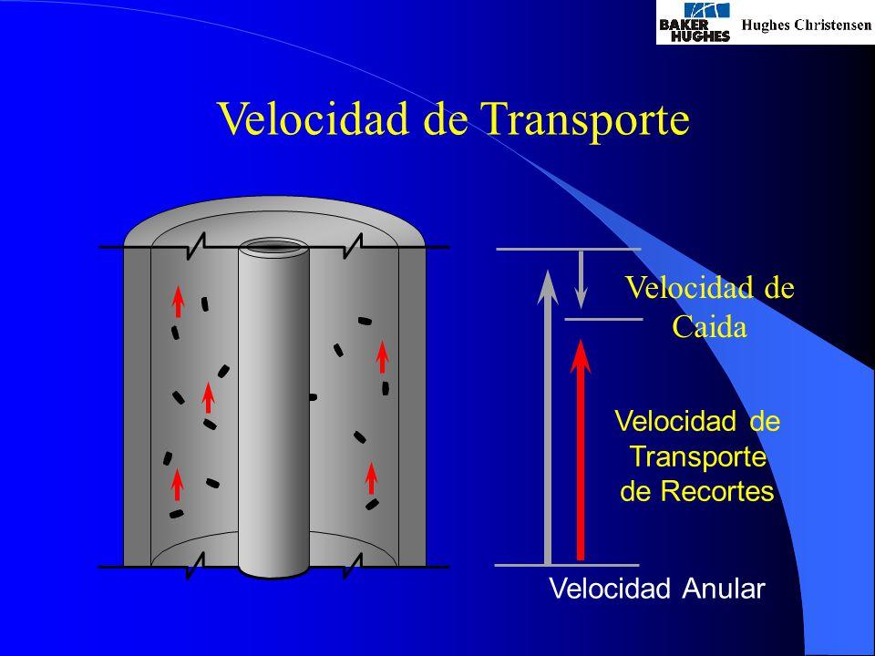 Velocidad de Transporte Velocidad Anular Velocidad de Transporte de Recortes Velocidad de Caida
