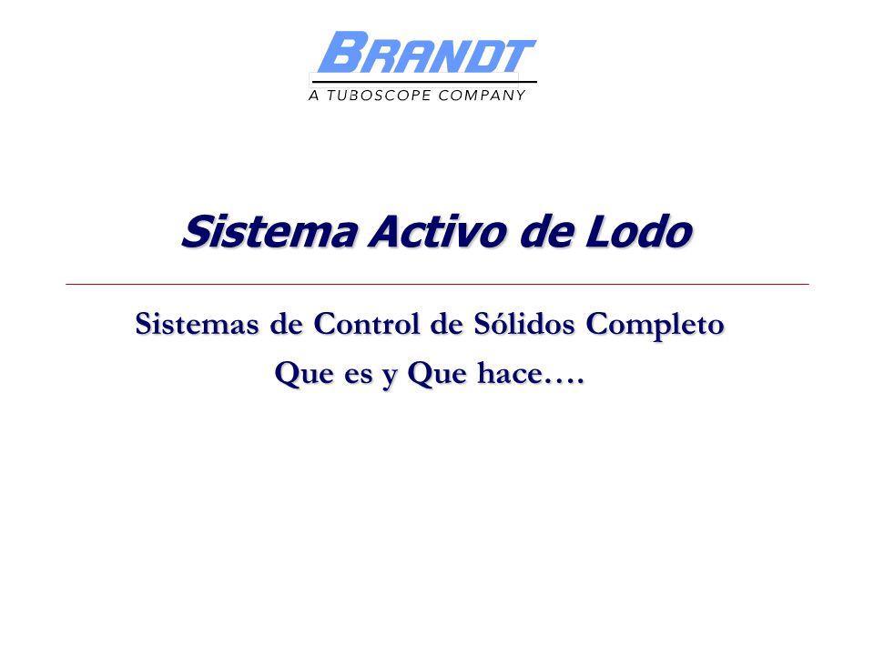 Sistema Activo de Lodo Sistemas de Control de Sólidos Completo Que es y Que hace….