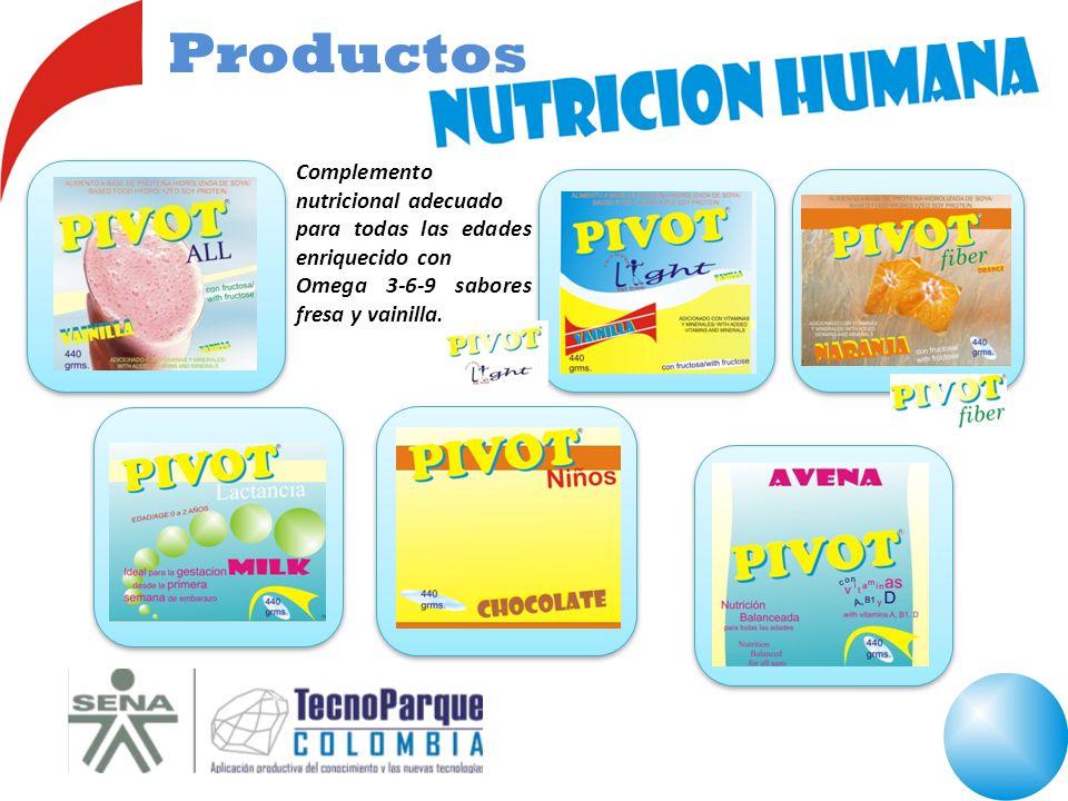 Complemento nutricional adecuado para todas las edades enriquecido con Omega 3-6-9 sabores fresa y vainilla. Productos