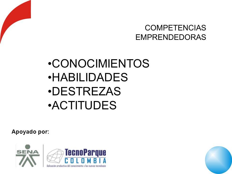 Apoyado por: CONOCIMIENTOS HABILIDADES DESTREZAS ACTITUDES COMPETENCIAS EMPRENDEDORAS