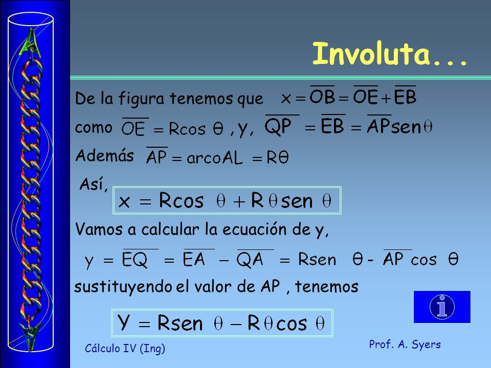 Prof.A. Syers Cálculo IV (Ing) Involuta...