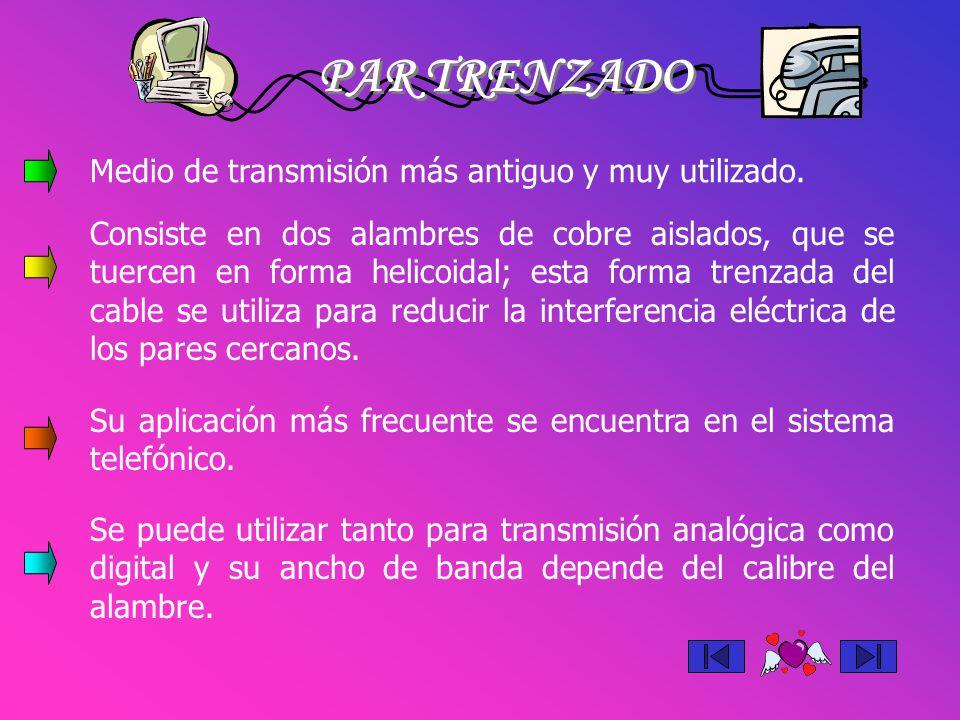 TIPOS DE PARES TRENZADOS No blindado BlindadoUniforme Es el cable de par trenzado normal.