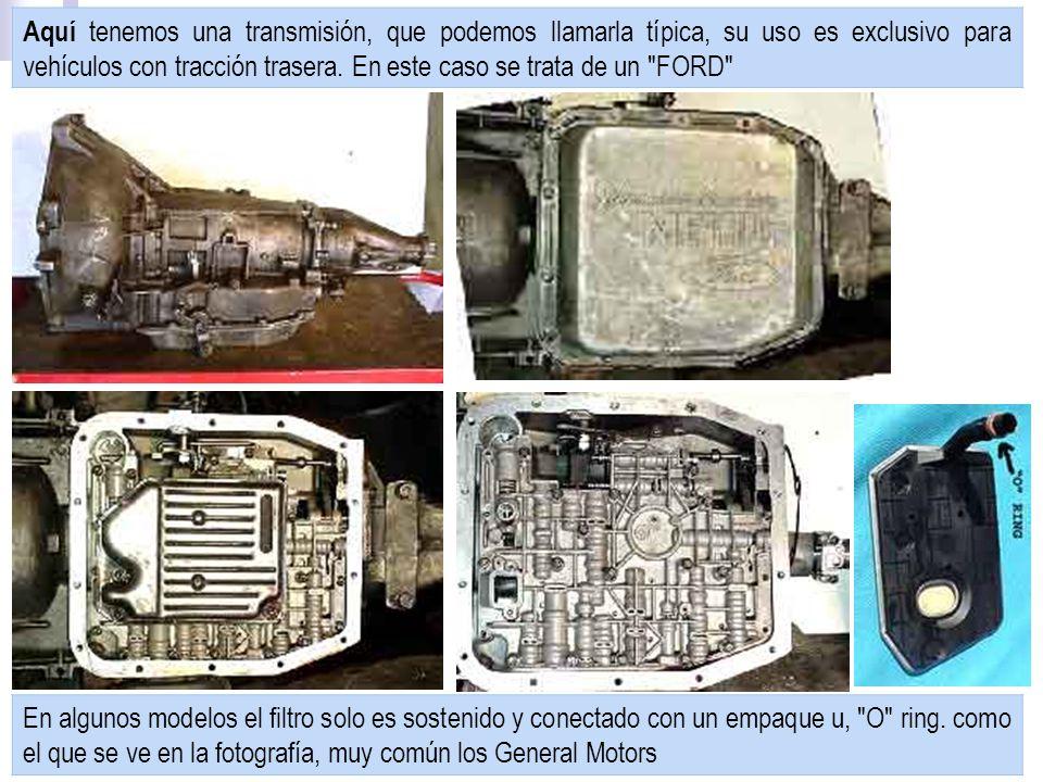 Aquí tenemos una transmisión, que podemos llamarla típica, su uso es exclusivo para vehículos con tracción trasera.