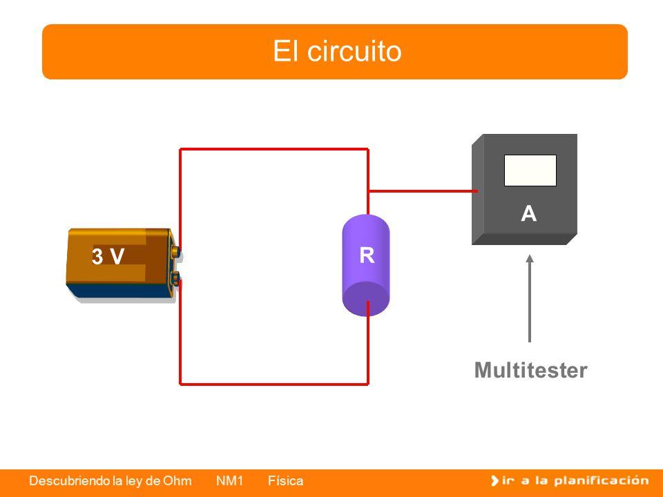 Descubriendo la ley de Ohm NM1 Física El circuito R 3 V Multitester A