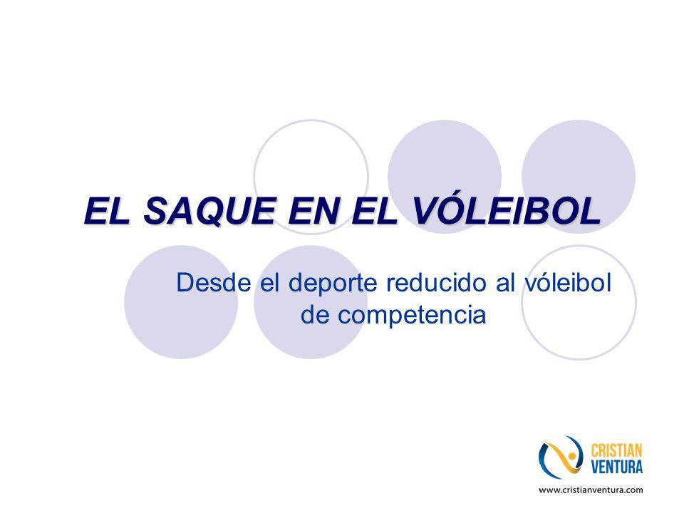 EL SAQUE EN EL VÓLEIBOL Desde el deporte reducido al vóleibol de competencia