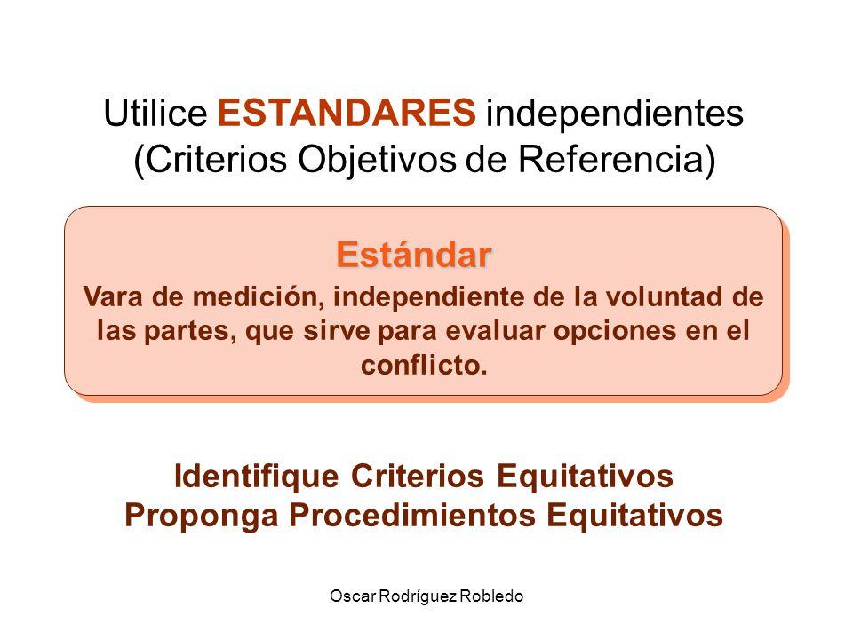 Oscar Rodríguez Robledo LEGITIMACION Posibilidad de justificar actitudes o procedimientos Implica la utilización de estándares independientes de la voluntad de las partes.