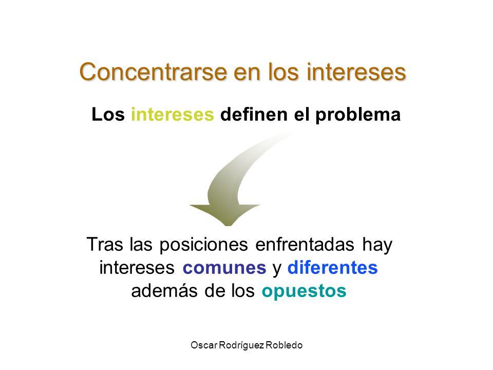 Oscar Rodríguez Robledo INTERESES ò Cuáles son nuestros intereses.