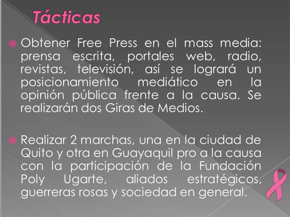 Obtener Free Press en el mass media: prensa escrita, portales web, radio, revistas, televisión, así se logrará un posicionamiento mediático en la opin