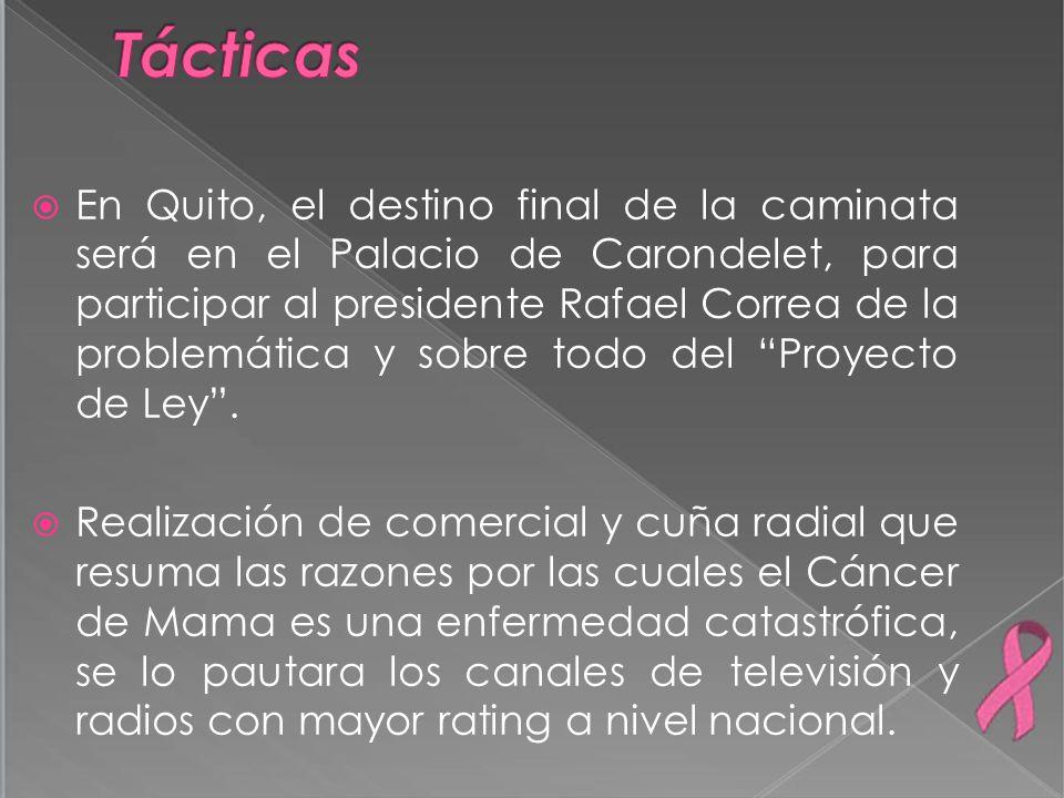En Quito, el destino final de la caminata será en el Palacio de Carondelet, para participar al presidente Rafael Correa de la problemática y sobre tod