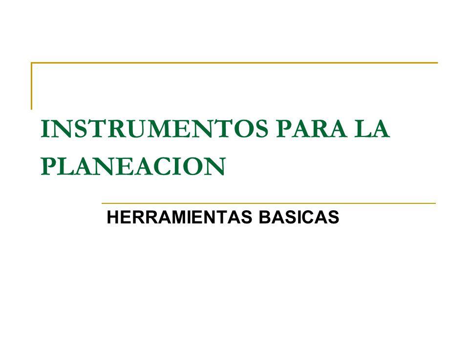 HERRAMIENTAS BASICAS INSTRUMENTOS PARA LA PLANEACION