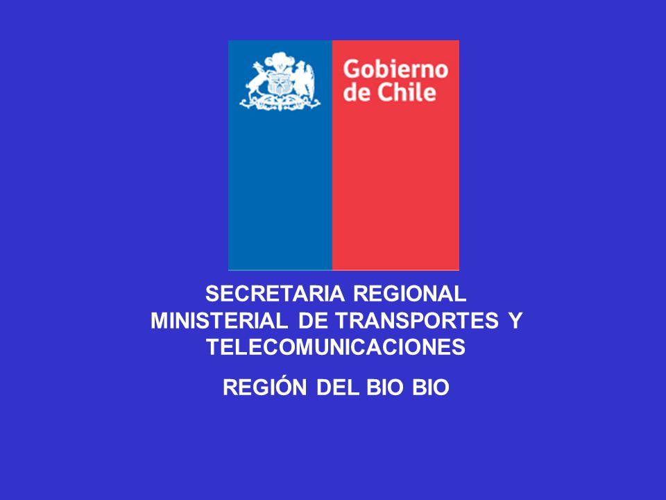 SECRETARIA REGIONAL MINISTERIAL DE TRANSPORTES Y TELECOMUNICACIONES REGIÓN DEL BIO BIO