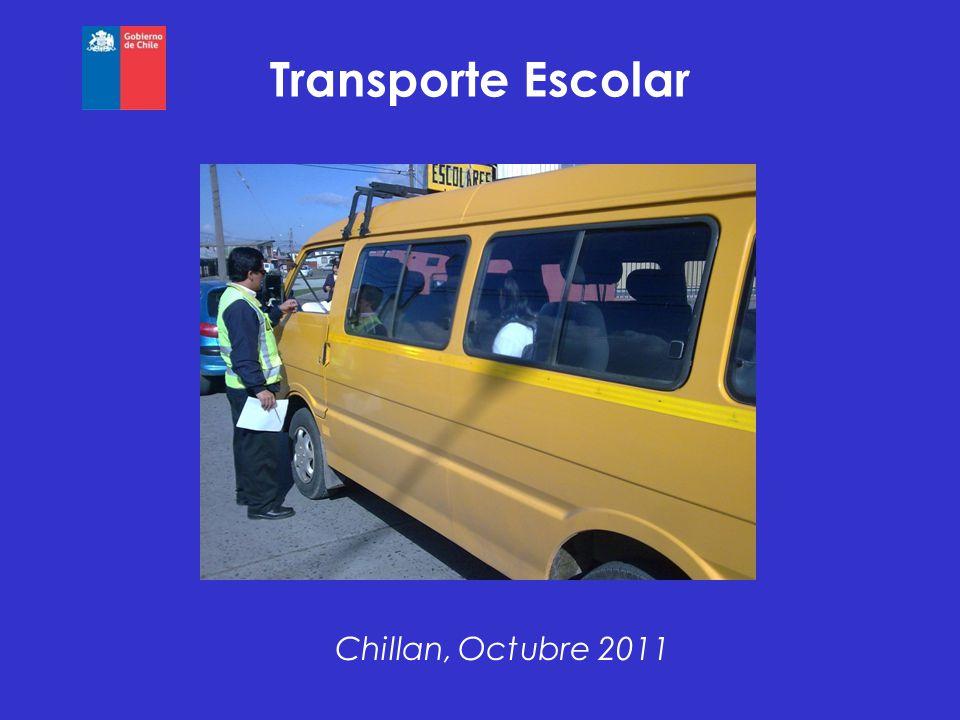 Transporte Escolar Chillan, Octubre 2011