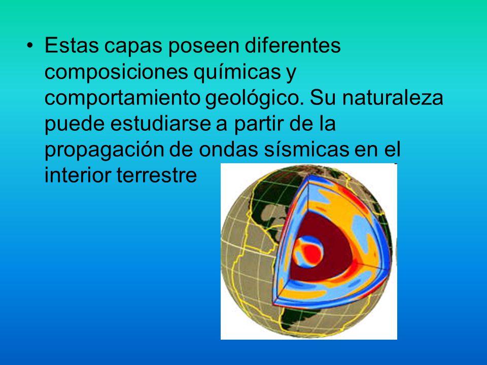 Estas capas poseen diferentes composiciones químicas y comportamiento geológico. Su naturaleza puede estudiarse a partir de la propagación de ondas sí