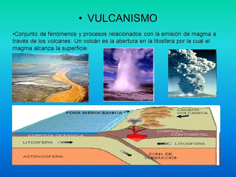 VULCANISMO Conjunto de fenómenos y procesos relacionados con la emisión de magma a través de los volcanes. Un volcán es la abertura en la litosfera po