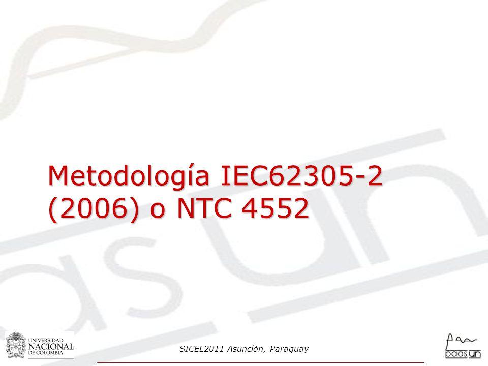 Metodología IEC62305-2 (2006) o NTC 4552 SICEL2011 Asunción, Paraguay