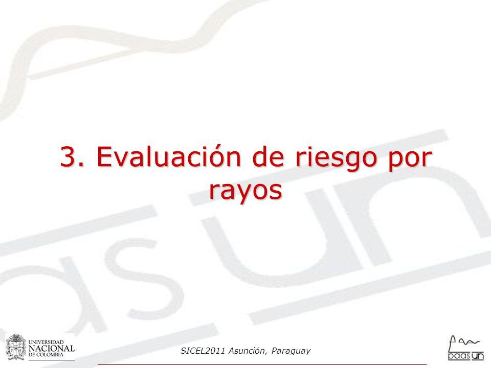 3. Evaluación de riesgo por rayos SICEL2011 Asunción, Paraguay