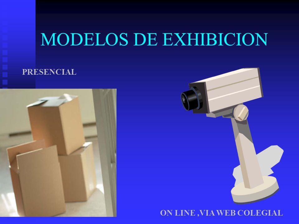 MODELOS DE EXHIBICION PRESENCIAL ON LINE,VIA WEB COLEGIAL