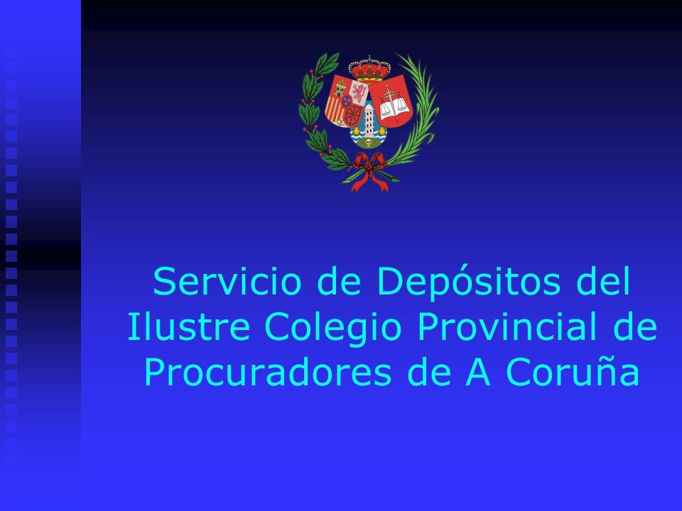 Servicio de Depósitos del Ilustre Colegio Provincial de Procuradores de A Coruña