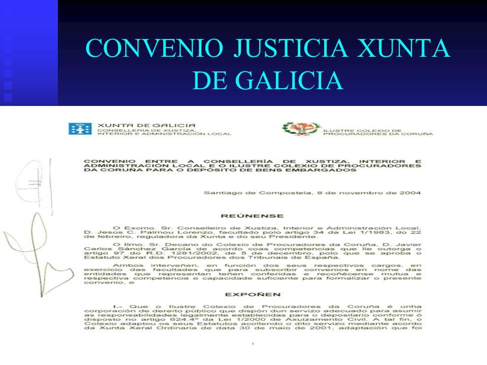 CONVENIO JUSTICIA XUNTA DE GALICIA