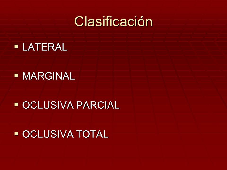 Clínica Sangre roja rutilante, sin coágulos Sangre roja rutilante, sin coágulos La pérdida es indolora La pérdida es indolora Se cohíbe espontáneamente, reapareciendo en forma intermitente.