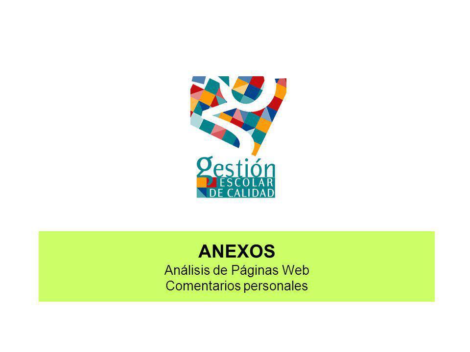 ANEXOS Análisis de Páginas Web Comentarios personales