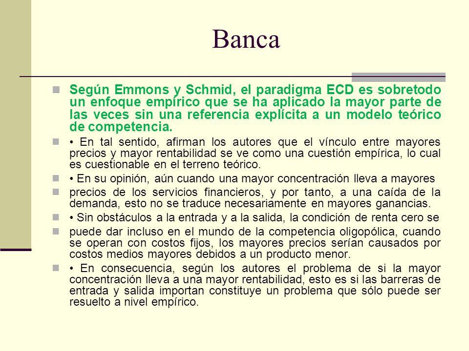 Banca Según Emmons y Schmid, el paradigma ECD es sobretodo un enfoque empírico que se ha aplicado la mayor parte de las veces sin una referencia explí