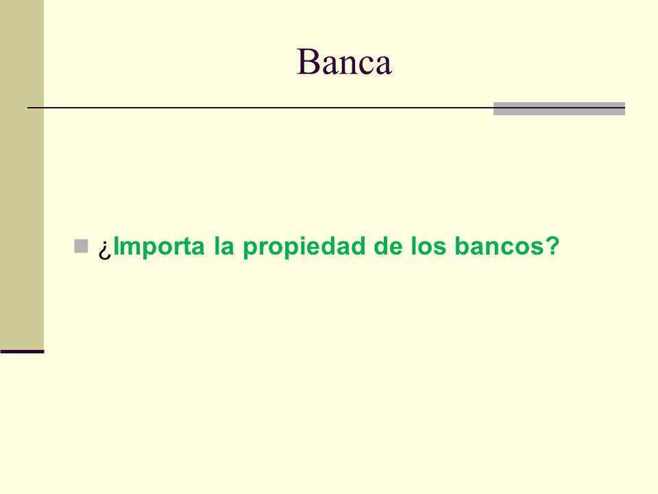 Banca ¿Importa la propiedad de los bancos?