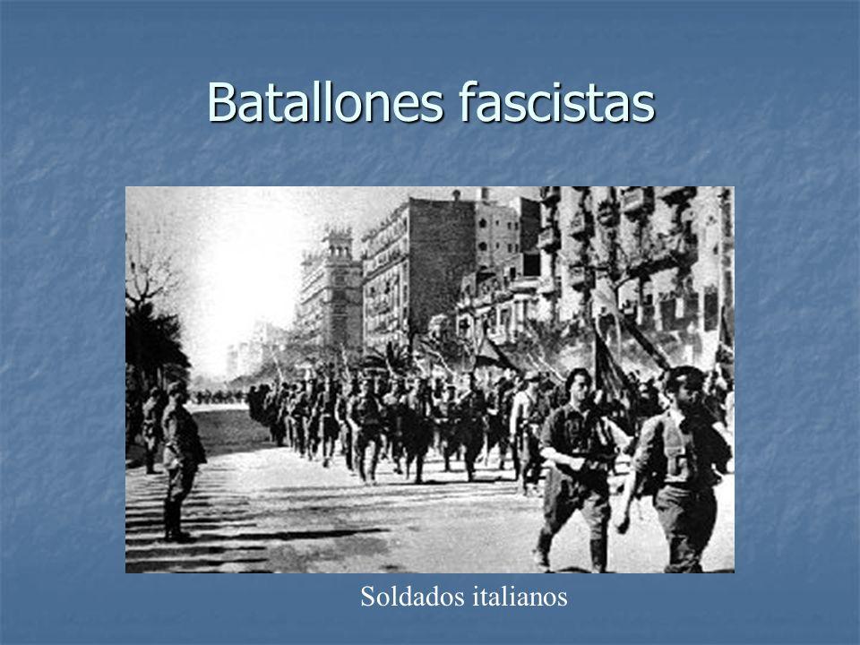 Batallones fascistas Soldados italianos