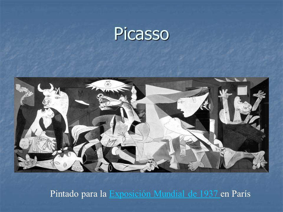 Picasso Pintado para la Exposición Mundial de 1937 en ParísExposición Mundial de 1937