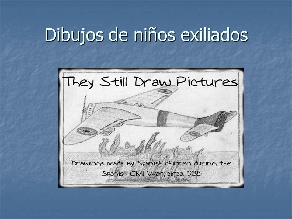 Dibujos de niños exiliados