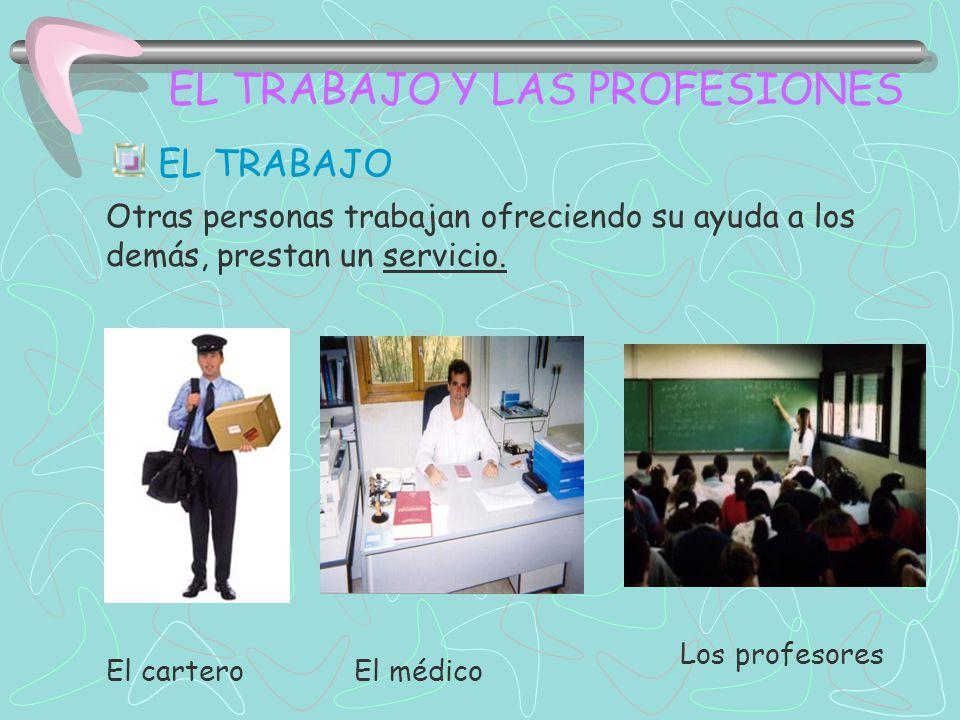 Clasifica las profesiones en la tabla nº 2; coloca los tipos de trabajo con su nombre
