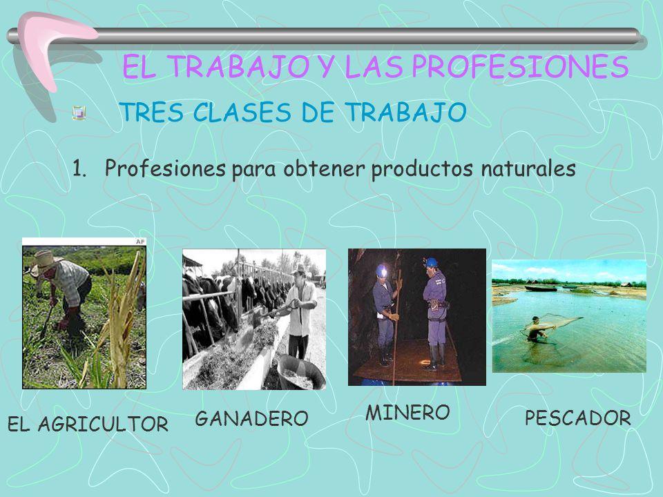 EL TRABAJO Y LAS PROFESIONES LAS TRES CLASES DE TRABAJO 2.