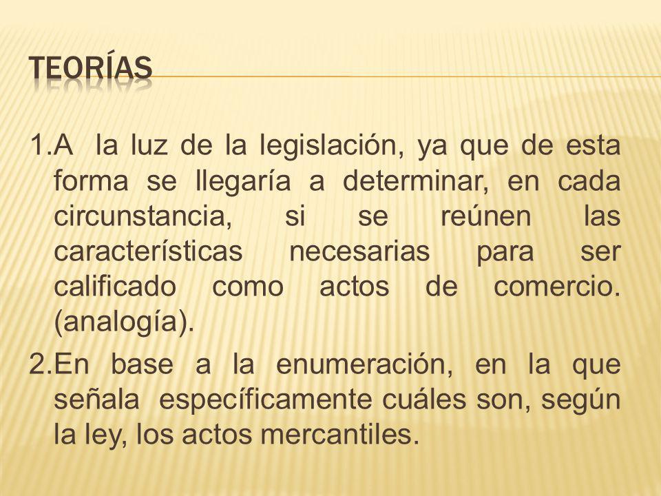 1.A la luz de la legislación, ya que de esta forma se llegaría a determinar, en cada circunstancia, si se reúnen las características necesarias para s