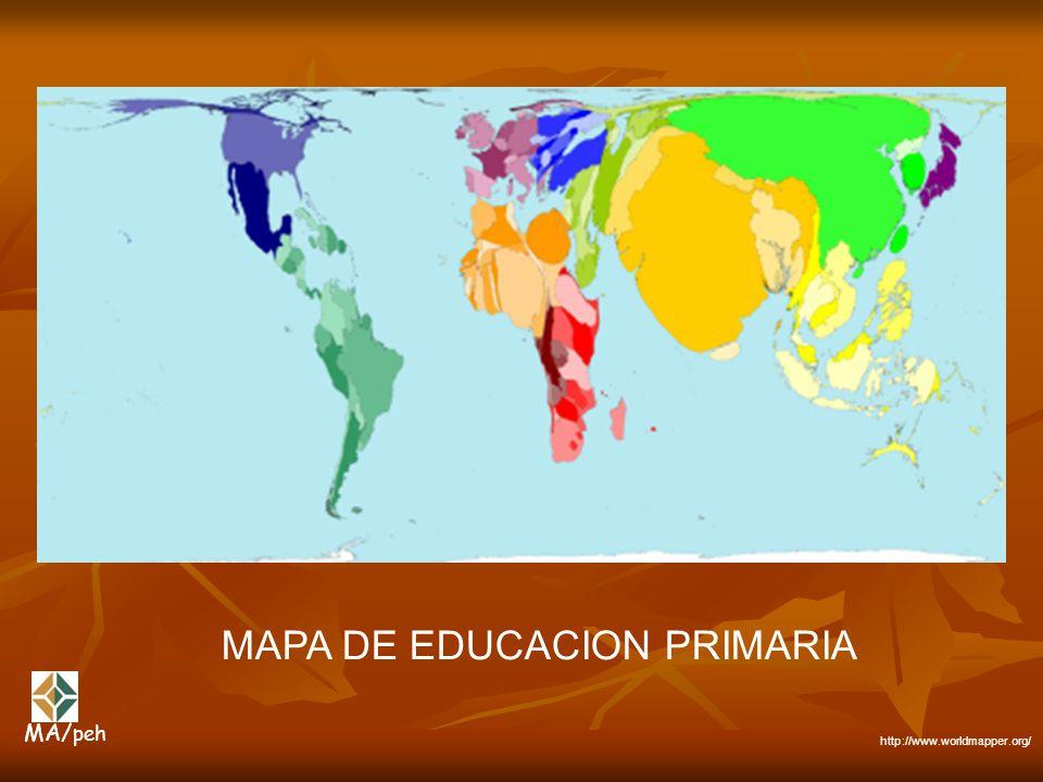 MAPA DE EDUCACION PRIMARIA http://www.worldmapper.org/ MA/ peh