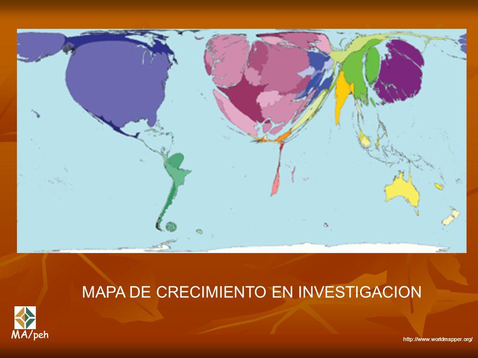 MAPA DE CRECIMIENTO EN INVESTIGACION http://www.worldmapper.org/ MA/ peh
