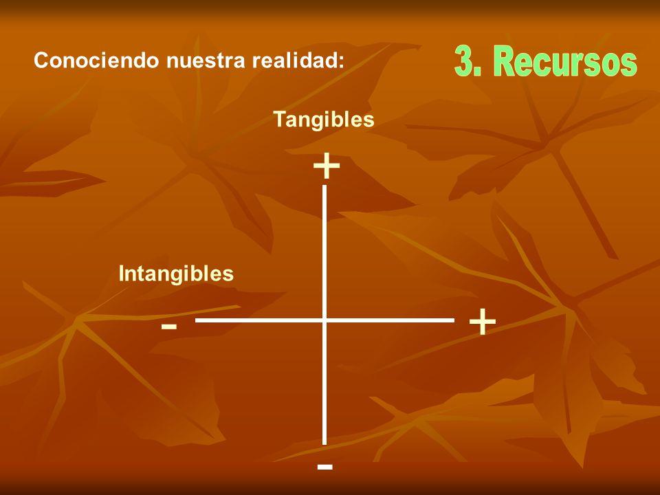 + +- - Tangibles Intangibles Conociendo nuestra realidad: