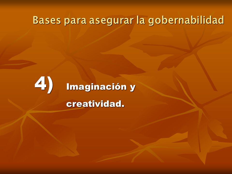4) Imaginación y creatividad. Bases para asegurar la gobernabilidad