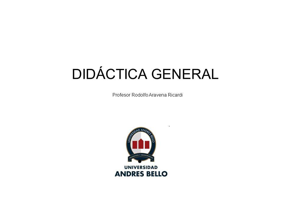 DIDÁCTICA GENERAL Profesor Rodolfo Aravena Ricardi