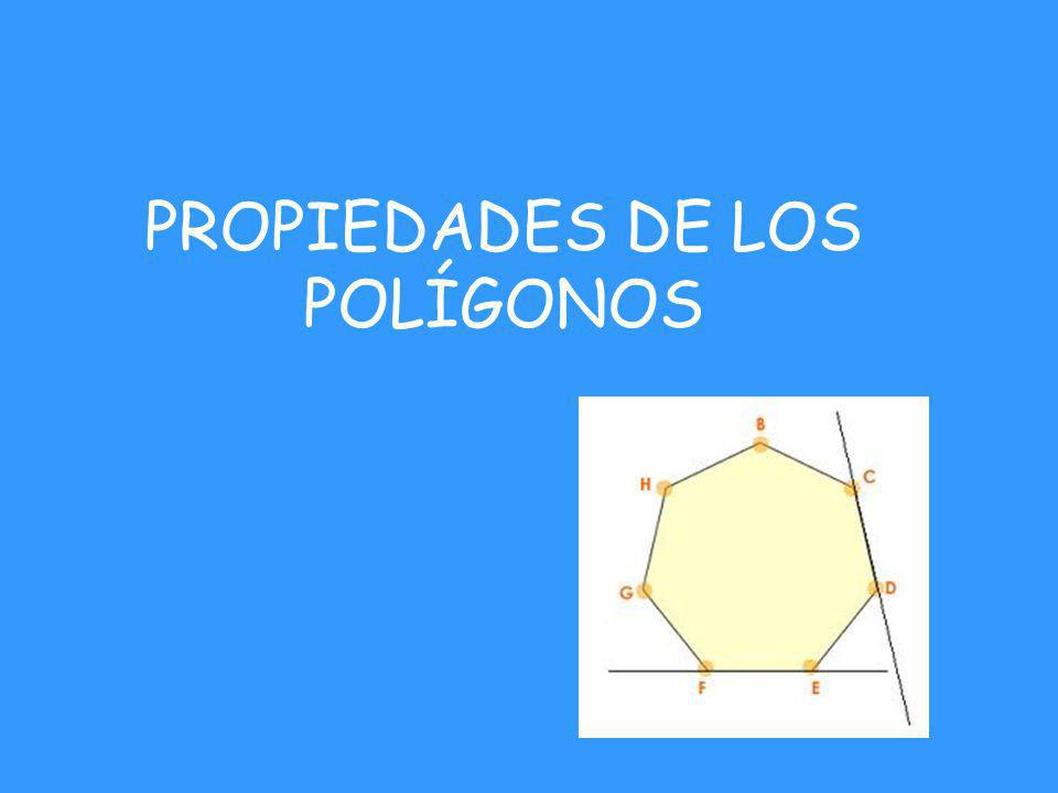PROPIEDADES DE LOS POLÍGONOS