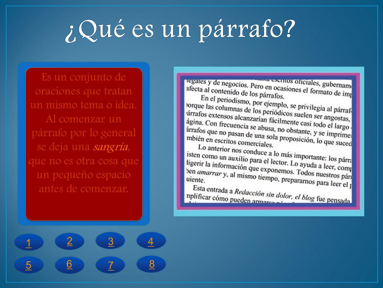 La oración tesis o la oración principal es la que expresa la idea central o lo más importante del párrafo.