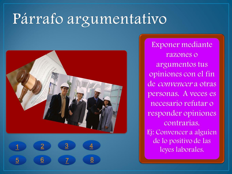 Identifica los siguientes párrafos en expositivo, descriptivo narrativo o argumentativo.