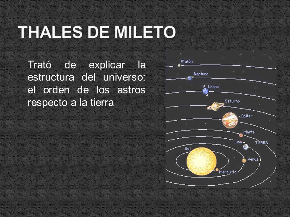 Trató de explicar la estructura del universo: el orden de los astros respecto a la tierra