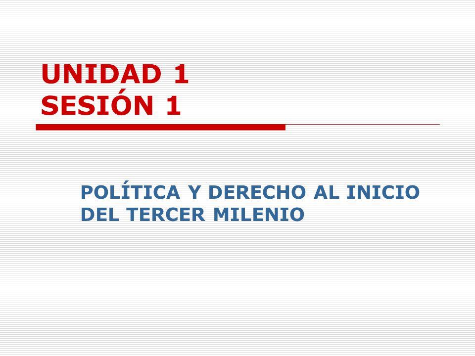 UNIDAD 1 SESIÓN 1 POLÍTICA Y DERECHO AL INICIO DEL TERCER MILENIO