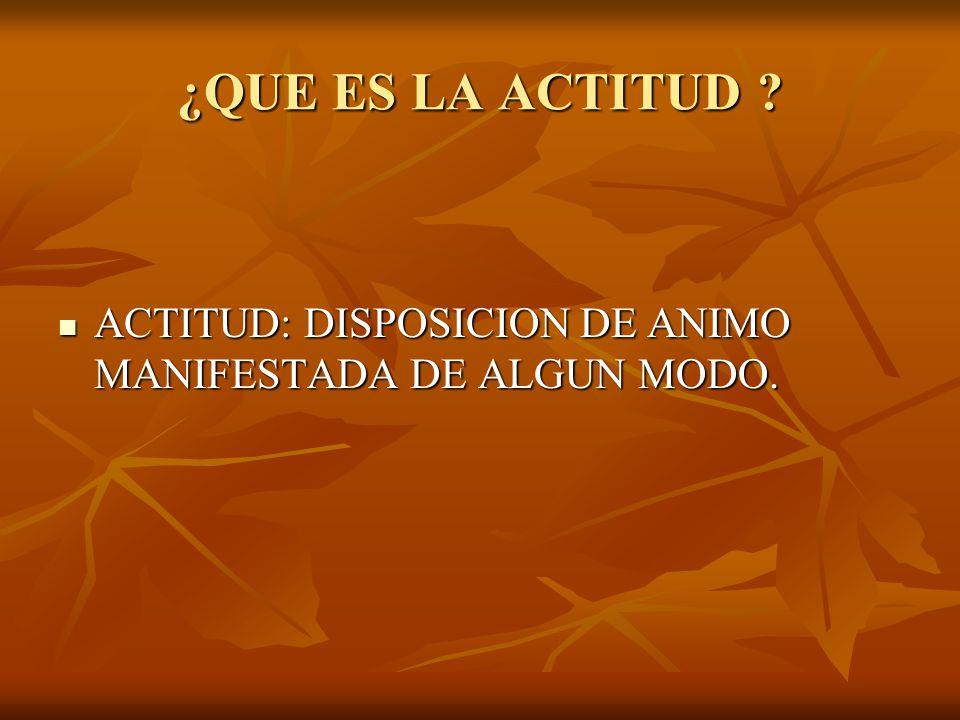 QUE ES LA ACTITUD MENTAL POSITIVA (A.M.P.).