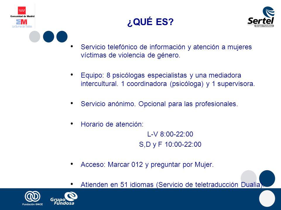 ¿QUÉ ES.Servicio telefónico de información y atención a mujeres víctimas de violencia de género.