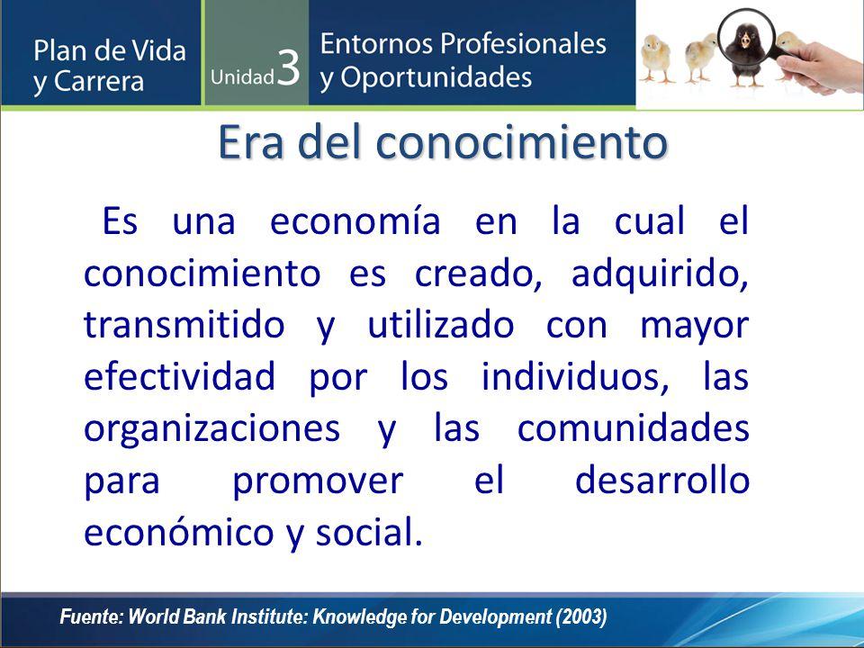 Es una economía en la cual el conocimiento es creado, adquirido, transmitido y utilizado con mayor efectividad por los individuos, las organizaciones