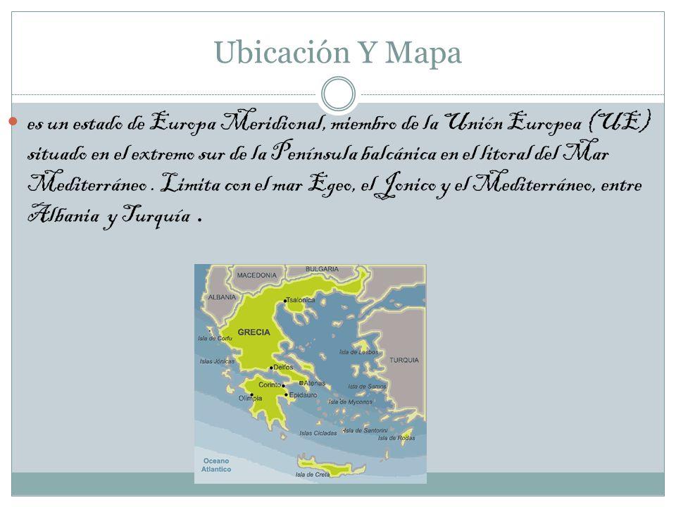 Ubicación Y Mapa es un estado de Europa Meridional, miembro de la Unión Europea (UE) situado en el extremo sur de la Península balcánica en el litoral