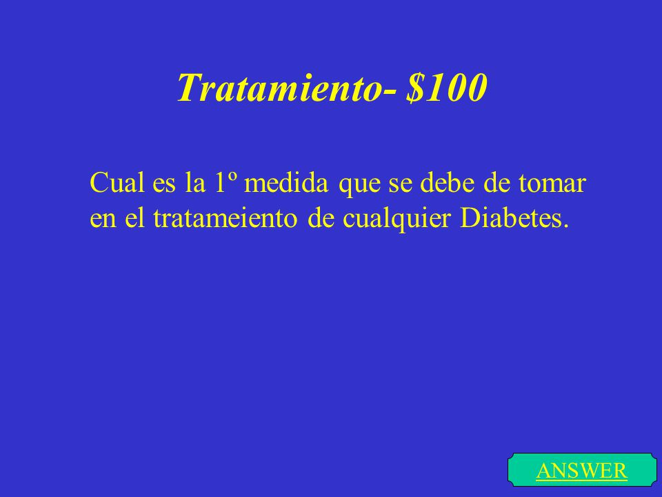 Tipos de Diabetes- $300 ANSWER Cuales son la diferencias entre la Diabetes tipo 1 y la Diabetes tipo 2