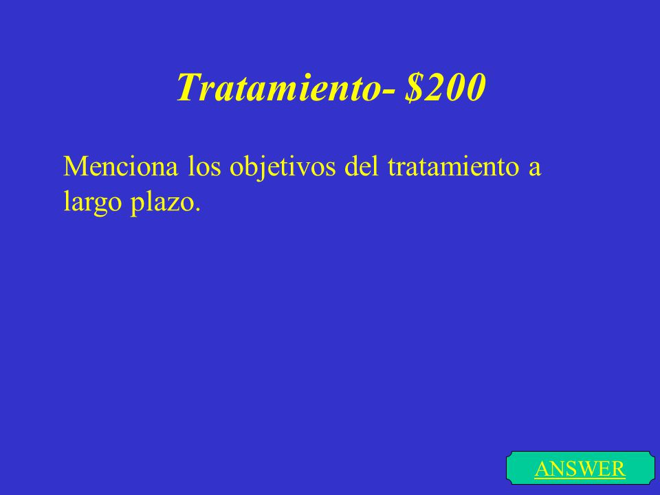 Tratamiento- $100 ANSWER Cual es la 1º medida que se debe de tomar en el tratameiento de cualquier Diabetes.